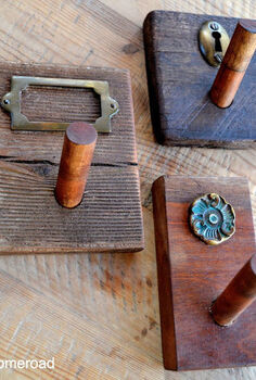 rustic hooks, crafts, Different shapes and different woods create a cohesive grouping