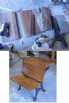 restoring an old school desk, painted furniture, Above is after I took the whole thing apart below is the refinished product