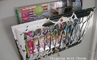 chippy cover to magazine holder, repurposing upcycling, I left mine as is I love this perfectly imperfect chippy look but I know it s not for everyone