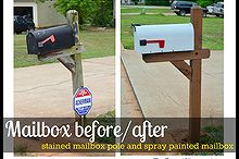 mailbox re do, curb appeal, painting