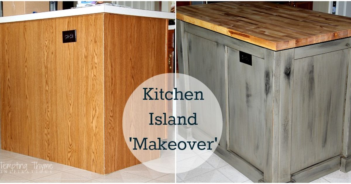 DIY Kitchen Island Makeover With Plywood And Lumber Hometalk