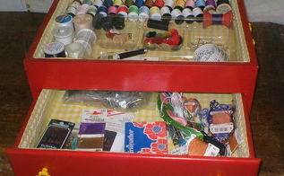 turn a cutlery chest into a sewing box, repurposing upcycling, Turn a Cutlery Chest into a Sewing Box