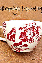 make a painted monogrammed mug inspired by anthropologie, crafts, Painted mug