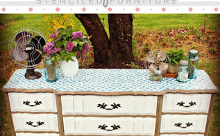 vintage chic stenciled furniture, painted furniture, shabby chic