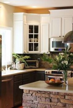 how i grew my upper kitchen cabinets, kitchen cabinets, kitchen design, After kitchen