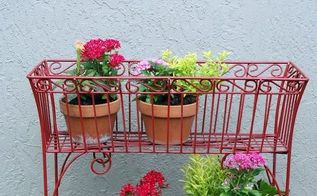 revamped wire basket plant stand, painting, Finished project See the full tutorial here