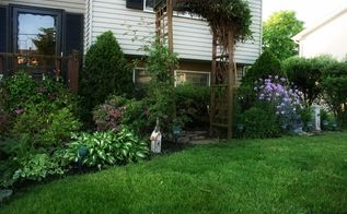 front yard before and after, flowers, gardening, Front yard after
