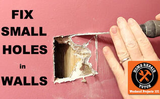 how to fix a small hole in the wall, diy, home maintenance repairs, how to, wall decor