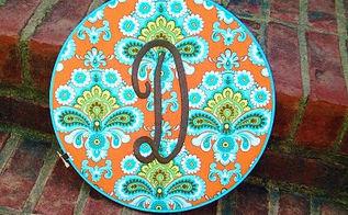 diy embroidery hoop art, crafts, Monogrammed Embroidery Hoop Art