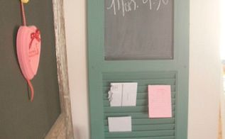 repurposed shutter becomes message center, diy, home decor, repurposing upcycling, Shutter Message Center
