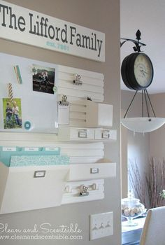 organizing a kitchen command center, kitchen design, organizing, The wall organizers are really easy to install and can be customized with adds on to provide the storage that you need