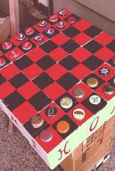 lazy summer days checkers on the front porch, crafts, painted furniture, repurposing upcycling