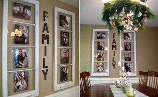 recycle window frames, crafts, home decor, repurposing upcycling, Recycle window frames by placing pictures of your family