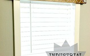 industrial wooden valence, diy, woodworking projects