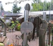 old keys and wind chimes, crafts, gardening
