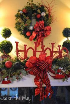 christmas mantel, christmas decorations, seasonal holiday decor