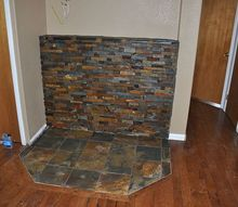 new wood stove location, concrete masonry, diy, home decor, woodworking projects, Sealed prior to grouting