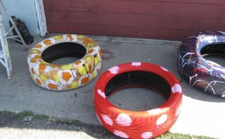 do you have a tire not a belly tire but a tire, repurposing upcycling, Beeee creative in how you design your own tire swing