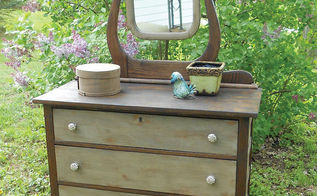 antique dresser makeover, painted furniture