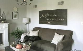 barn door wall art, crafts, doors, home decor, Barn Door above sofa really fills that blank wall space