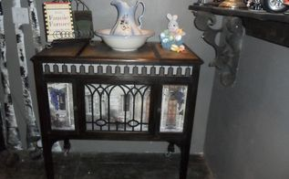 victrola to serving station, painted furniture, My Finished Project