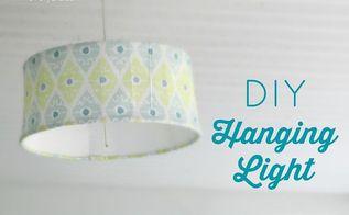 super cheap diy hanging light, crafts, home decor, lighting