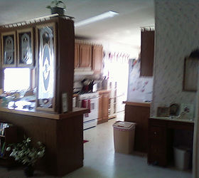 Before and after redo mobile home kitchen remakeHometalk