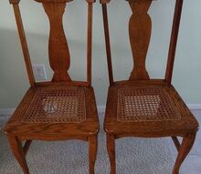 are these chairs antiques, painted furniture, repurposing upcycling, 2 chairs found at yard sale