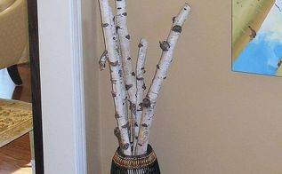birch branch decor ideas, home decor, repurposing upcycling, A simple display in my foyer