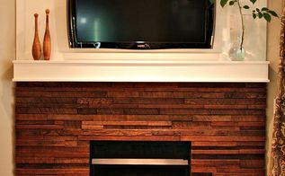 my rustic diy fireplace makeover, fireplaces mantels, home decor, Fireplace After