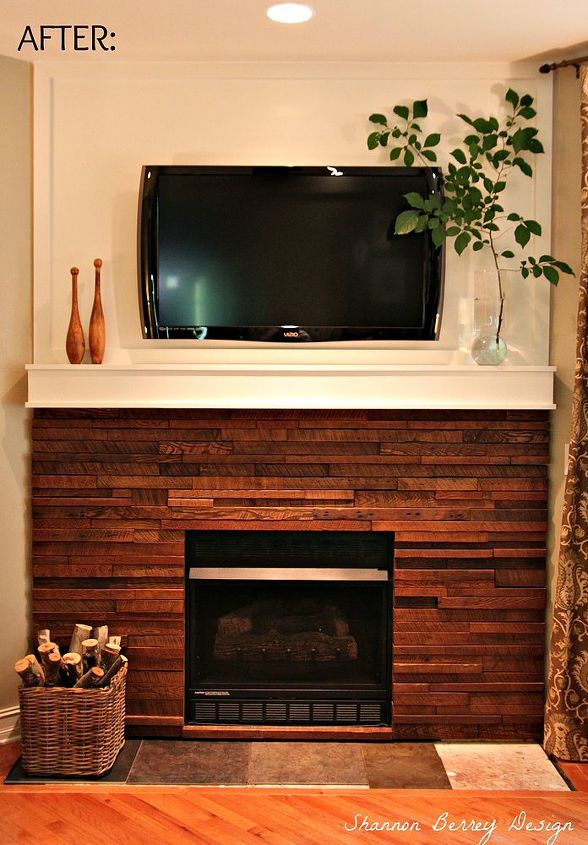 My Rustic Diy Fireplace Makeover Hometalk