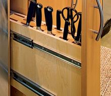 q favorite knife storage, kitchen design, storage ideas, custom pull out