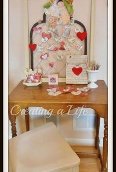 valentine love note station, crafts, seasonal holiday decor, valentines day ideas