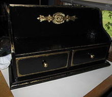 plain box turned into a treasure box, painting, complete I gave it an old distressed look