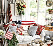 patriotic sunporch, decks, patriotic decor ideas, seasonal holiday decor