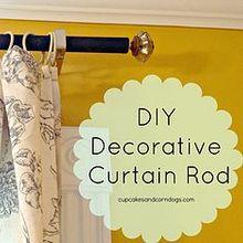 diy curtain rod for oversize windows, home decor, window treatments, windows, DIY Curtain Rod for under 20