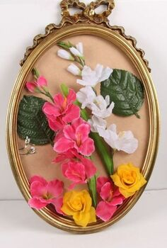 silk flower broken mirror craft for bridal shower or home decor, crafts, repurposing upcycling