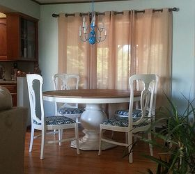 Craigslist Freebie Turned Amazing Dining Room Set For Under 100, Painted  Furniture, Reupholster,