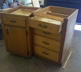 Lovely Old Base Cabinets Repurposed To Kitchen Island, Diy, How To, Kitchen  Cabinets,