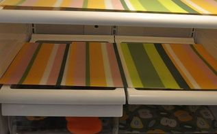 make your own fridge liners, crafts, Fit placemats onto shelves Cut or layer them Installation is easy