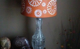 diy hand painted lampshade, crafts, painting