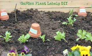 diy garden plant labels, gardening