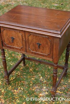 sewing cabinet upcycled into a bar cart, repurposing upcycling, Before photo of 1938 sewing cabinet