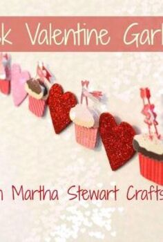 quick valentine s garland, crafts, seasonal holiday decor, valentines day ideas