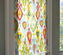 ridiculously easy no sew blind, crafts, home decor, A quick way to make a no sew removeable window covering