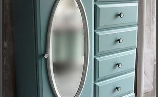 wardrobe makeover, painted furniture, After