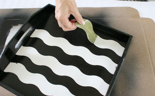 diy projects using frogtape shapetape, crafts, painting, Remove the WAVE shape tape when completely dry Voila