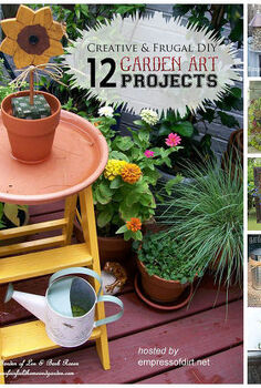 12 creative and frugal garden art projects under 20, crafts, flowers, gardening, repurposing upcycling, succulents, wreaths, See all 12 projects here