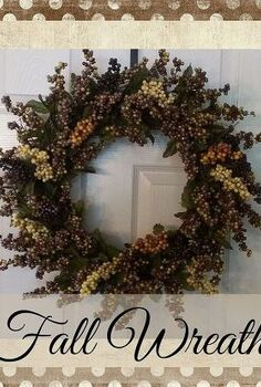 beautiful fall wreath, crafts, seasonal holiday decor