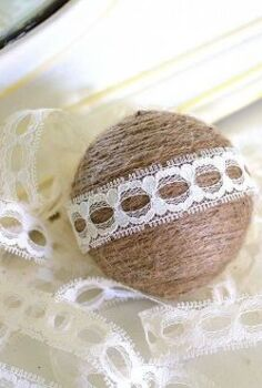 decoratively wrapped twine balls, crafts, These twine balls can be used in so many ways I have put them in glass vases bowls and on our Christmas tree